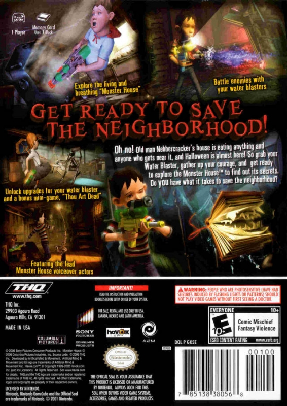 Monster House for GameCube - Sales, Wiki, Release Dates