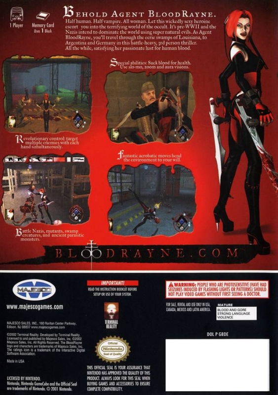 Bloodrayne For Gamecube Sales Wiki Release Dates Review