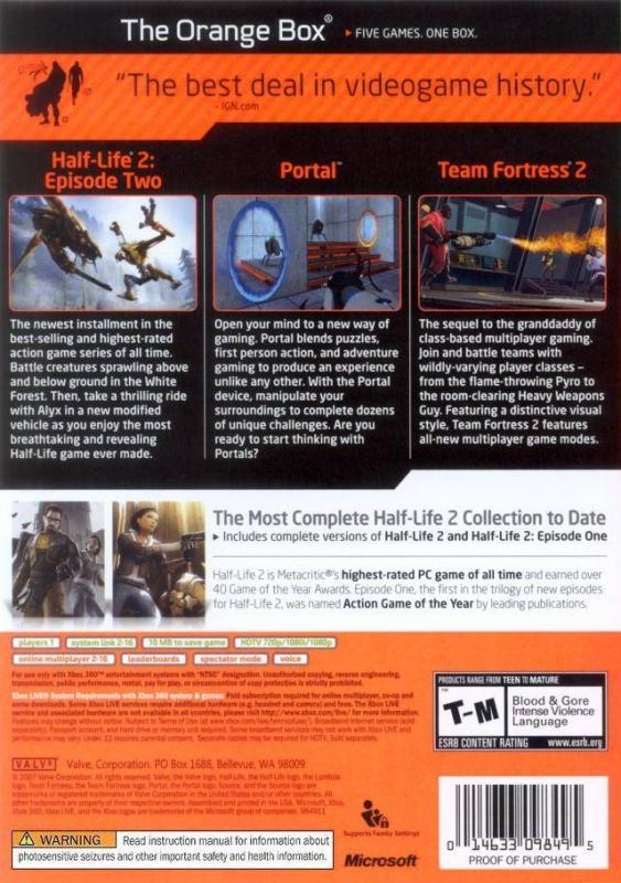 Half-Life 2: The Orange Box for Xbox 360 - Sales, Wiki