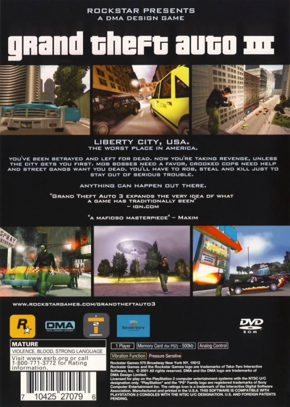Grand Theft Auto III for PlayStation 2 - Sales, Wiki