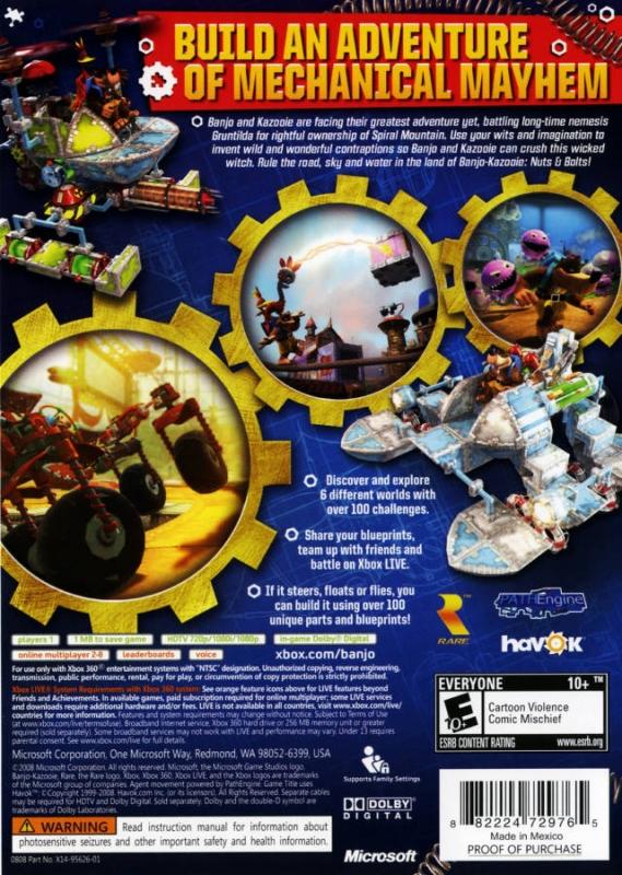 Banjo-Kazooie: Nuts & Bolts for Xbox 360 - Cheats, Codes