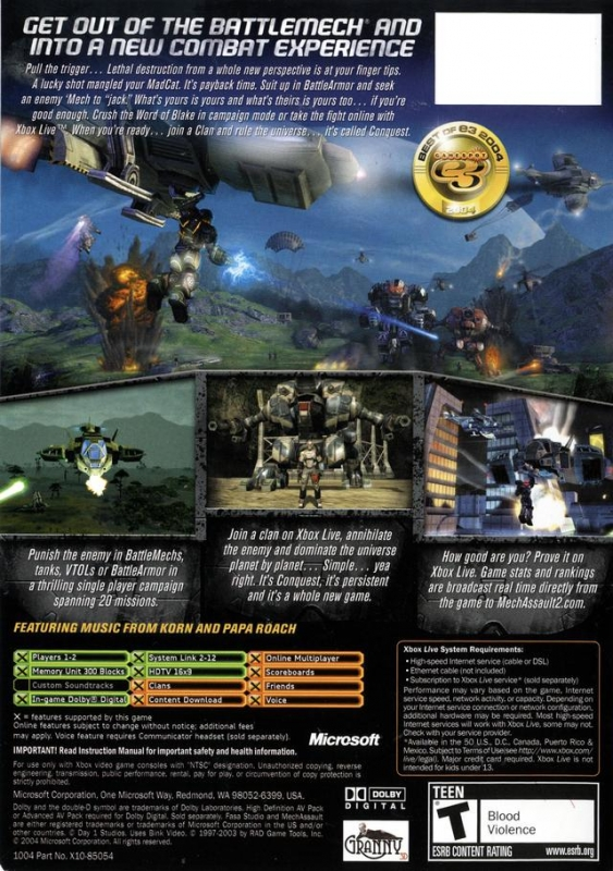 MechAssault 2: Lone Wolf for Xbox - Sales, Wiki, Release Dates