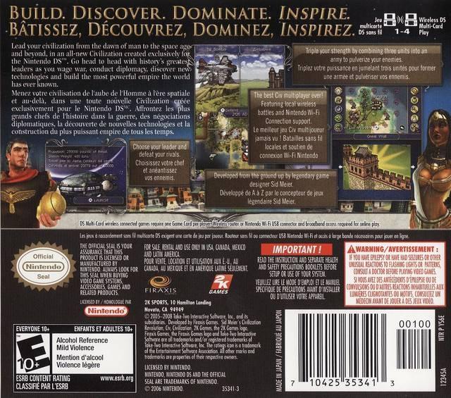 Sid Meier's Civilization Revolution for Nintendo DS - Sales