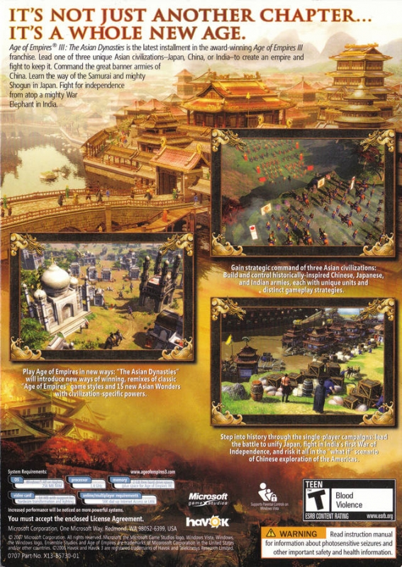 Age of Empires III: The Asian Dynasties for Microsoft Windows