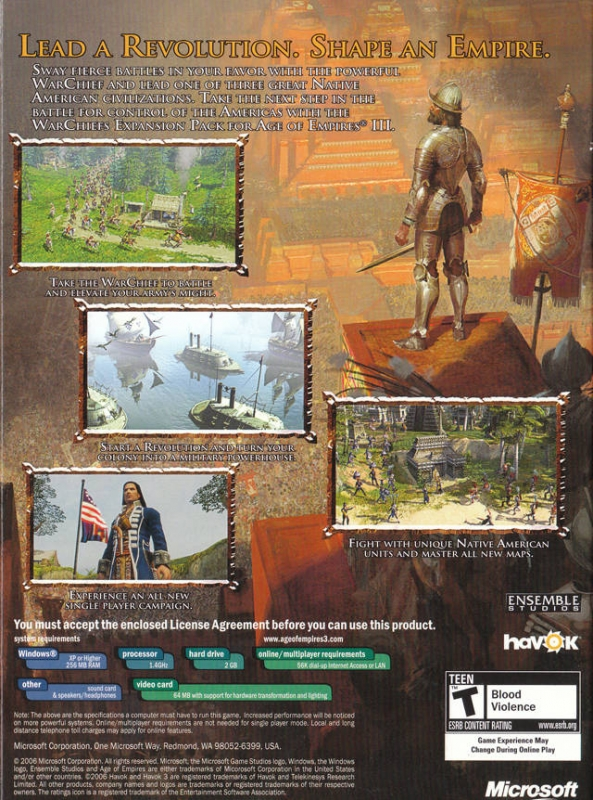 Age of Empires III: The WarChiefs for Microsoft Windows