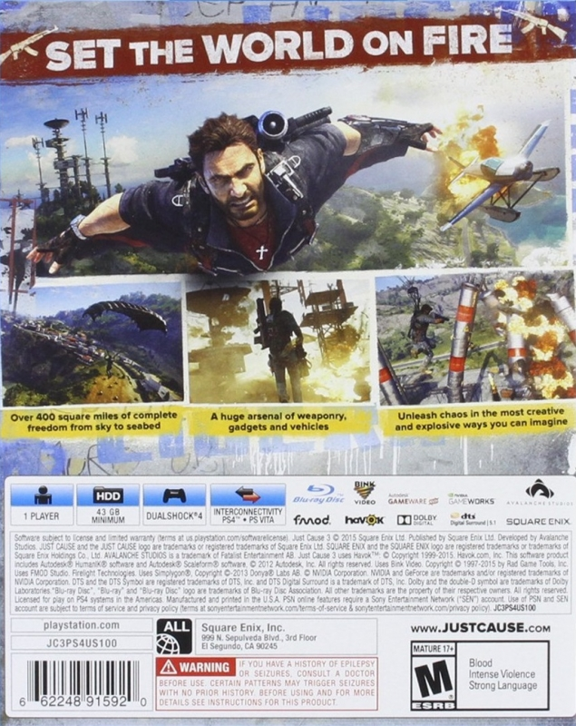 Just Cause 3 for PlayStation 4 - Sales, Wiki, Release Dates, Review