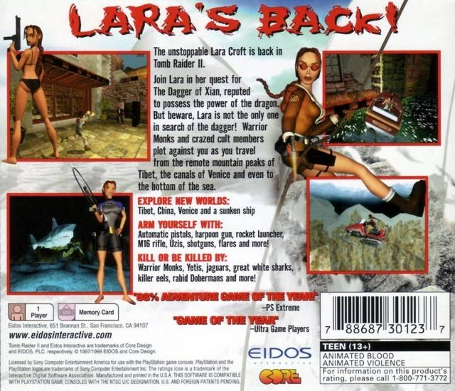 Tomb Raider 2 For Playstation Sales Wiki Release Dates Review
