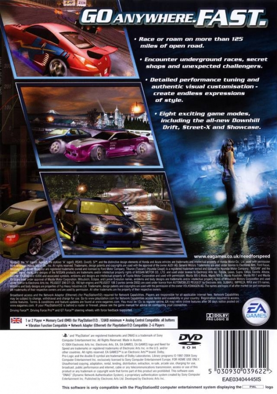 need for speed underground 2 playstation 2 overview. Black Bedroom Furniture Sets. Home Design Ideas