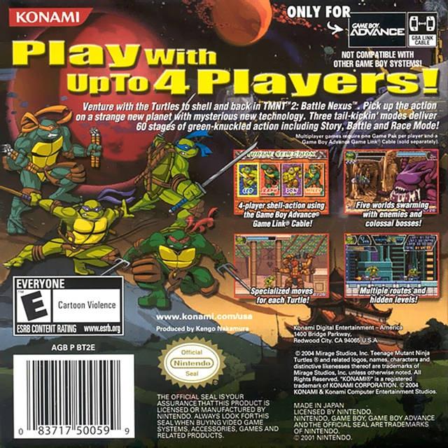 Teenage mutant ninja turtles 2 battle nexus game boy advance casino arizona poker cash games