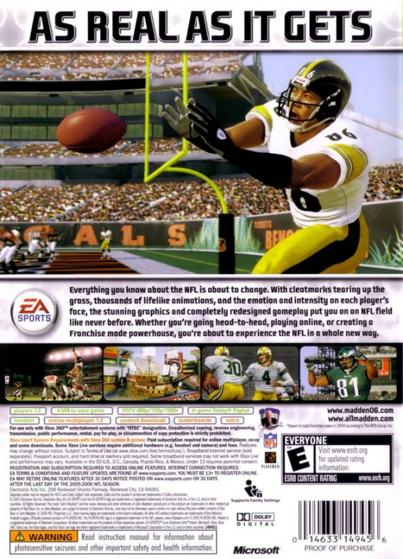Madden nfl 06 — strategywiki, the video game walkthrough and.