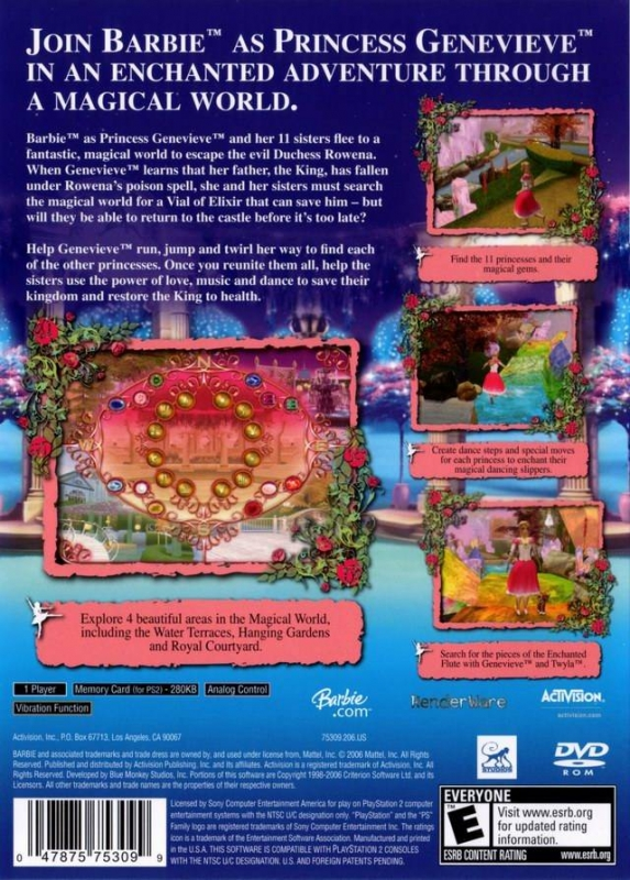 Barbie In The 12 Dancing Princesses For Playstation 2 Sales