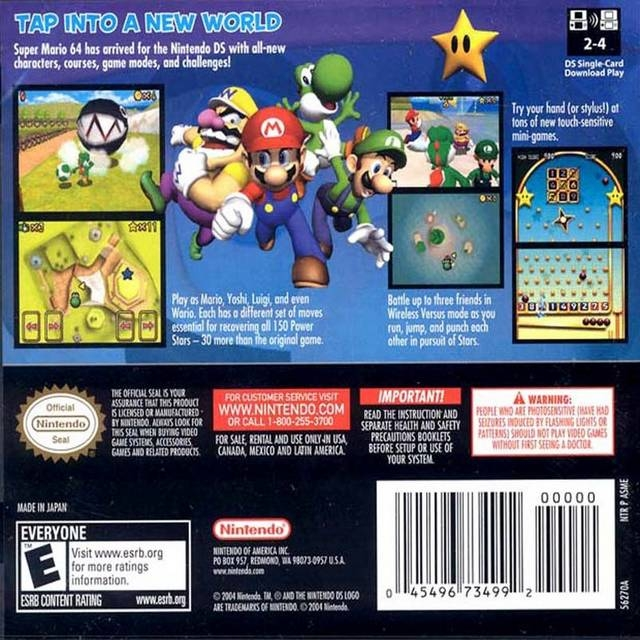 Super Mario 64 DS for Nintendo DS - Sales, Wiki, Release