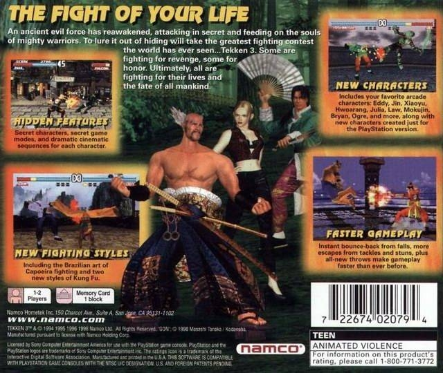 Tekken 3 for PlayStation - Cheats, Codes, Guide, Walkthrough, Tips