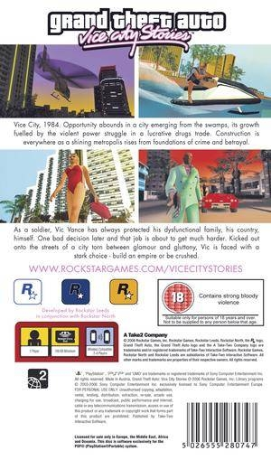 Grand Theft Auto - Vice City Stories ISO ROM Download for PSP