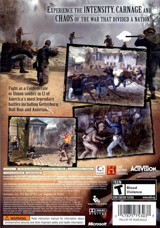 History Channel Civil War: A Nation Divided for Xbox 360 - Sales