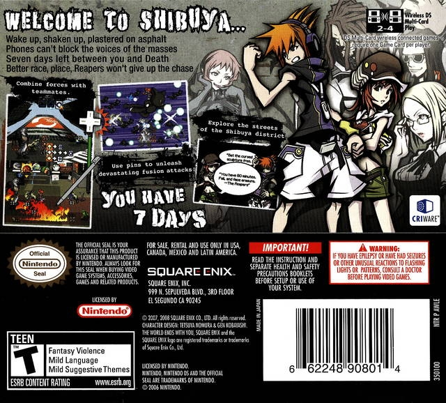 The World Ends With You for Nintendo DS - Cheats, Codes, Guide,  Walkthrough, Tips & Tricks