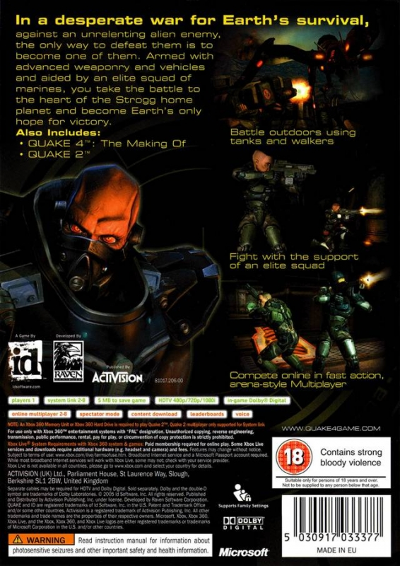 Quake 4 for Xbox 360 - Sales, Wiki, Release Dates, Review