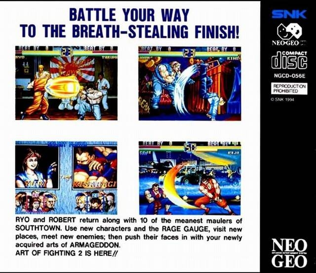 Art Of Fighting 2 Cd For Neo Geo Cheats Codes Guide