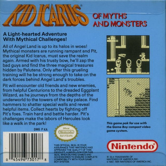 Kid Icarus: Of Myths and Monsters for Game Boy - Sales, Wiki