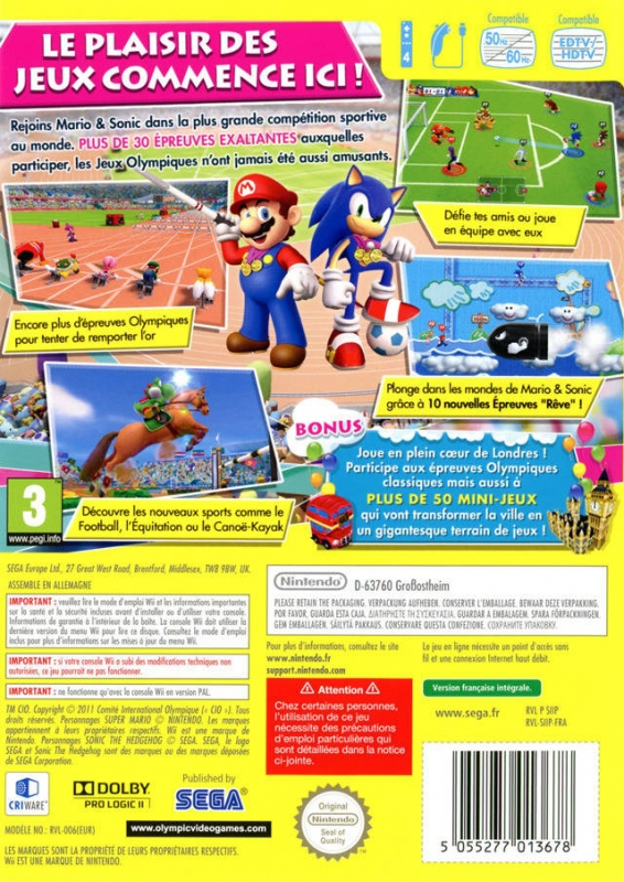 mario amp sonic at the london 2012 olympic games wii