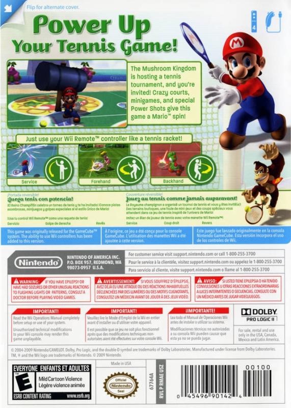 Mario Power Tennis wii pal