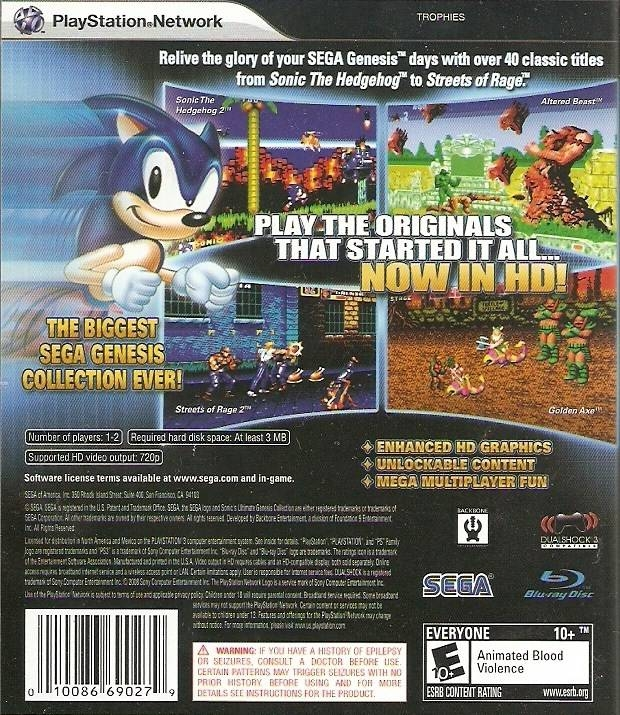Sonic's Ultimate Genesis Collection for PlayStation 3