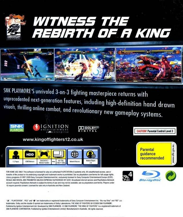 The King Of Fighters Xii For Playstation 3 Sales Wiki Release
