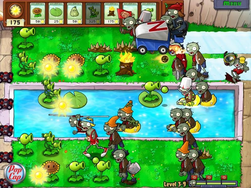 storyline to tie the levels together, but Plants vs. Zombies isn't just