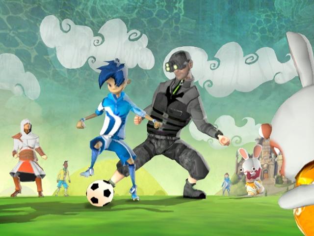 Niños jugando futbol caricaturas - Imagui