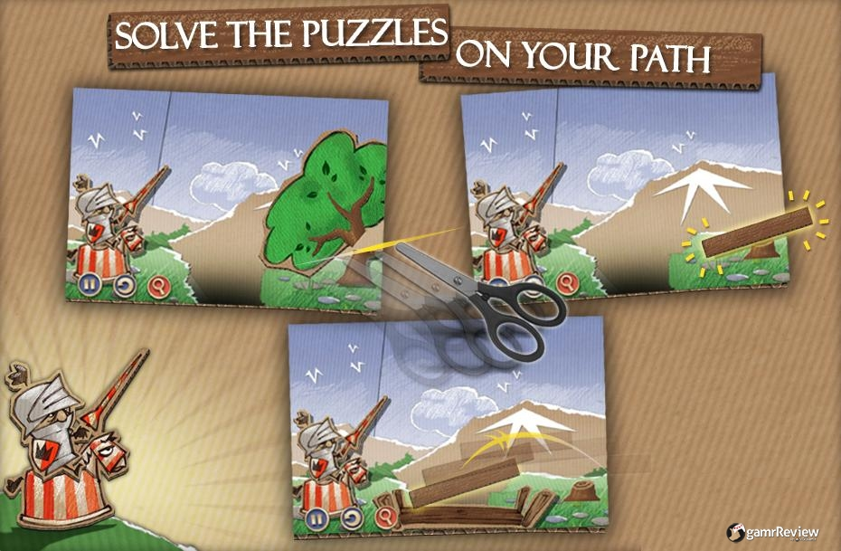 gamrReview cardboard castle iphone review adventure puzzle scissors