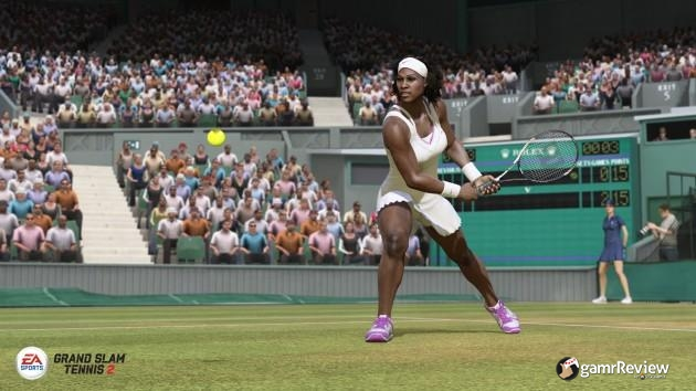 Serena, about to hurt a tennis ball